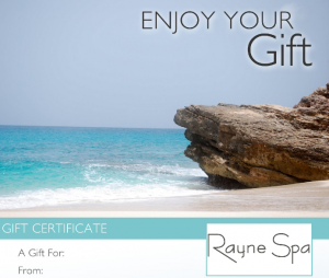 Rayne Spa _ Gift Certificates